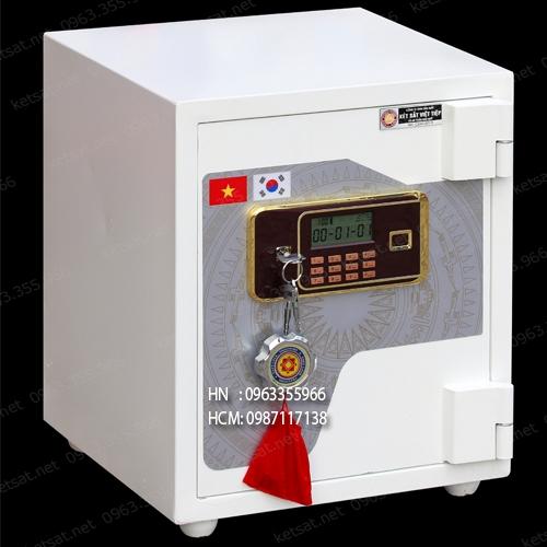 Két sắt màu trắng Việt Tiệp siêu cường SV66LE-W điện tử